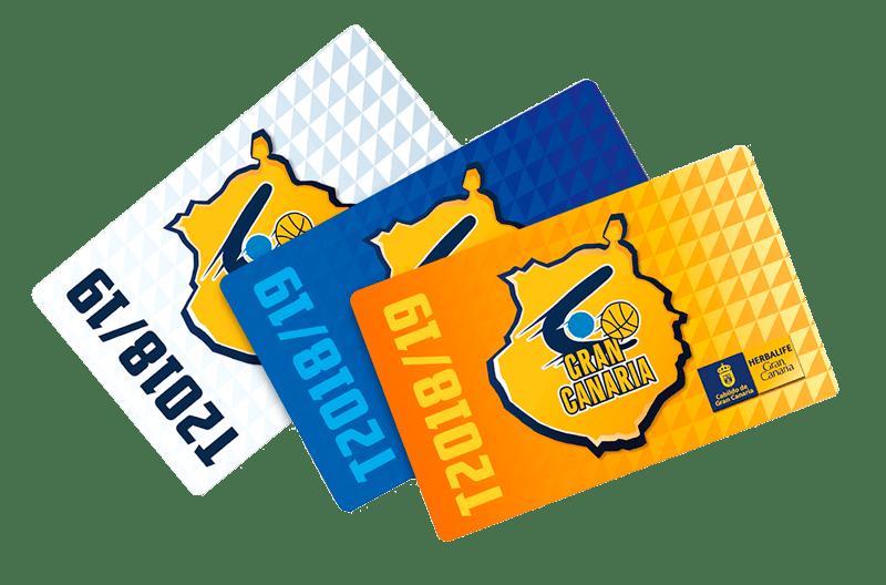 Tarjetas abono temporada 2018-2019. Club Baloncesto Gran Canaria